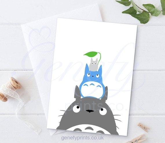 Studio Ghibli My Neighbour Totoro Card Totoro Birthday Card Etsy