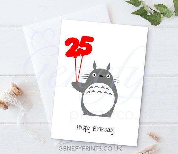 Studio Ghibli My Neighbour Totoro Birthday Card Totoro Etsy