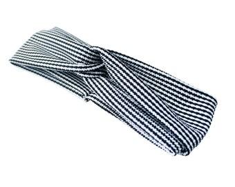 Turban   Headband   black and white   Hahnentritt   Women  