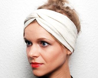 Turban   Headband   white   cream   Ladies