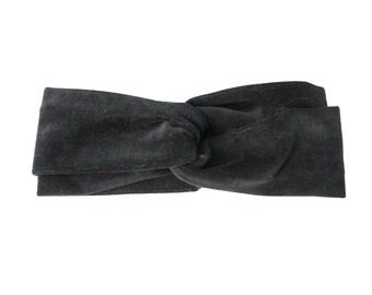 Turban   Headband   Velvet   Women's   Grey