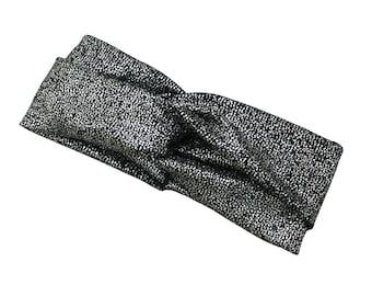 Turban   Headband   silver   Glitter   Ladies