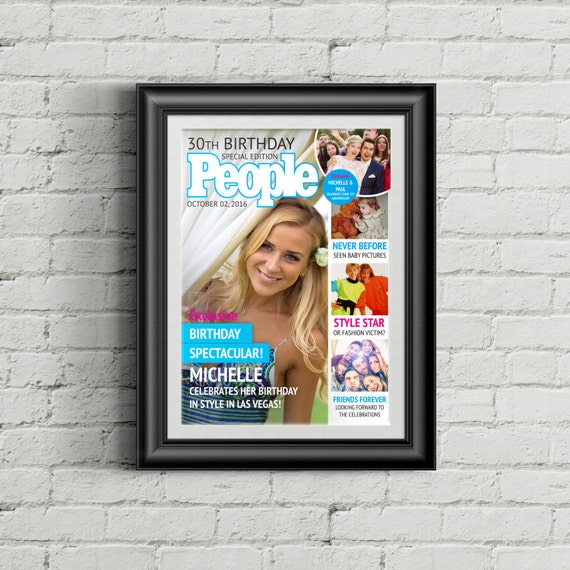 diy printable a3 mock people magazine cover for hen etsy
