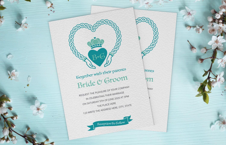 Awesome Celtic Design Wedding Invitations Crest - Invitations ...