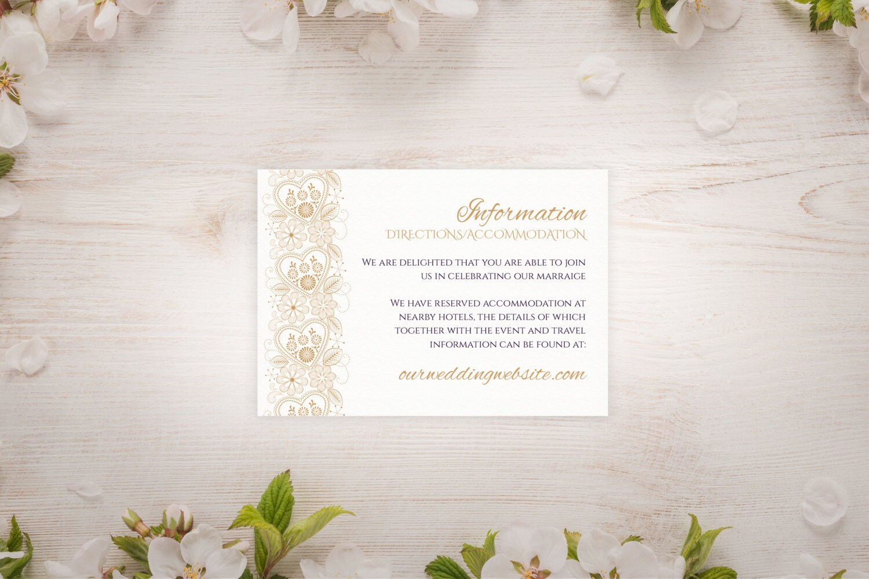 Target Wedding Invitations Kits: DIY Printable 3.5x5 Wedding Information Card Template Gold