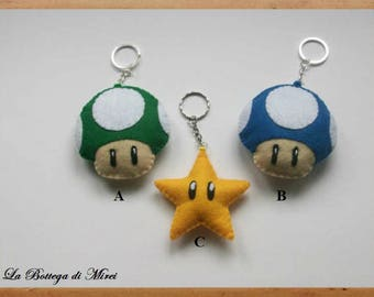 Super Mario Keychain - Super Mario felt
