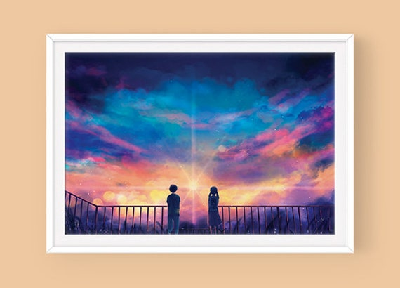 Anime Movie Poster Weathering With You Etsy