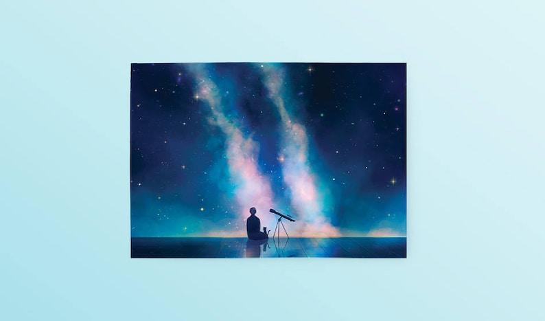 76bfe19798e7b Serendipity Jimin Postcard BTS Jimin Bangtan Space Galaxy