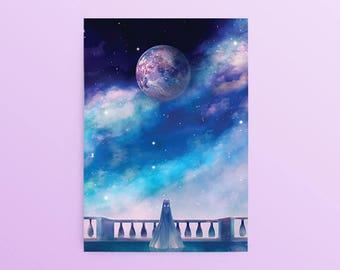 Sailor Moon Postcard: Orbit, Silver Milennium, Princess Serenity, Neo Serenity, Usagi Tsukino