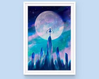 Sailor Moon Poster, Moon Crystals, Bishoujo Senshi Sailor Moon, Usagi Tsukino, Anime Poster, Moon Kingdom