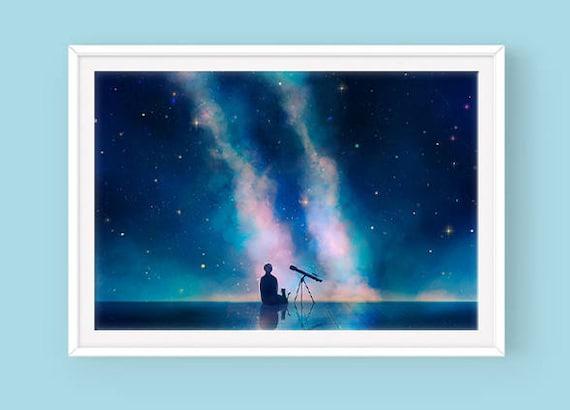 Serendipity Poster, Bts Jimin, Bangtan, Space, Galaxy Poster, Park Jimin, Bts Artwork by Etsy