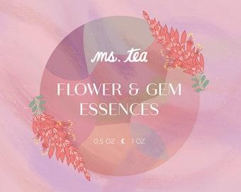FLOWER + GEM ESSENCES ~ Energetic Environmental Plant & Stone Essences ~ Choose from singles, pre-blends or build a formula