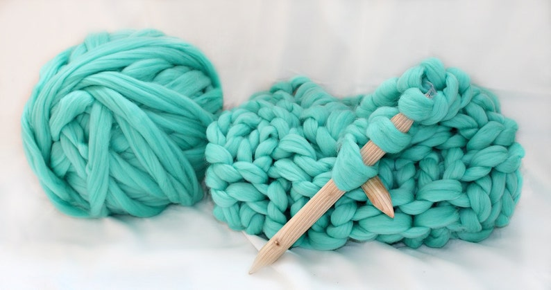 Chunky Kit Make Your Own Blanket Diy Kit Chunky Knit Etsy