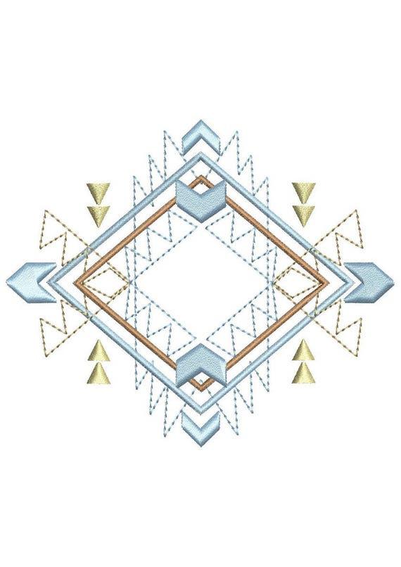 Dessin azt que motif broderie machine etsy - Dessin azteque ...