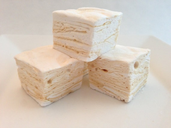 Salted Caramel Swirl Marshmallows - 1 Dozen or 4 Dozen - Gifts for Her, Gifts for Him, S'Mores