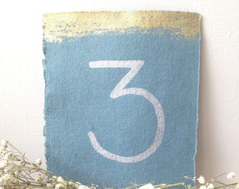 GOLD Wedding Table number card- wedding card, wedding stationery, wedding invitations, Place Cards, handmade paper, calligraphy, vintage
