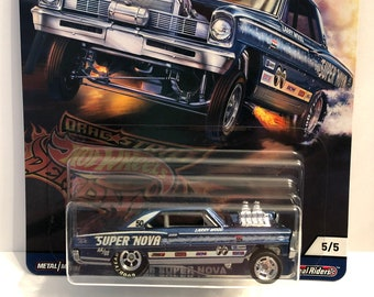 HOT WHEELS DRAGSTER DEMONS 1965 MERCURY COMET CYCLONE REAL RIDERS 4//5