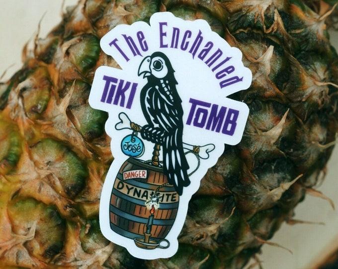 The Enchanted Tiki Tomb Sticker