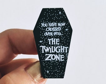Twilight Zone Coffin Enamel Pin