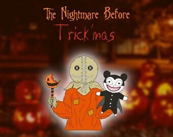 Nightmare Before Trick'mas Enamel Pin