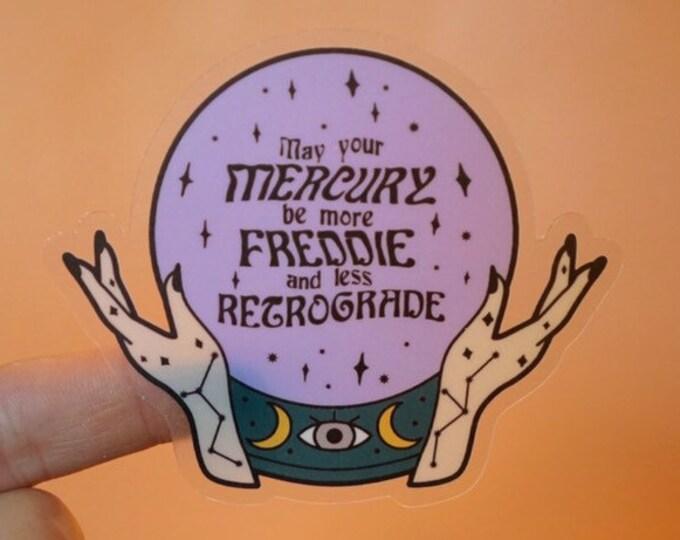 Freddie Mercury in Retrograde Sticker
