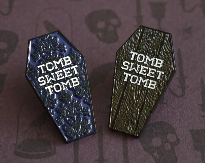 Haunted Mansion Tomb Sweet Tomb Coffin Enamel Pin