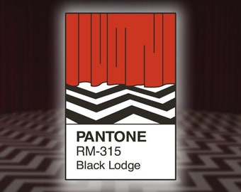 Twin Peaks Pantone Inspired Enamel Pin