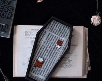 EXCLUSIVE Large 'Sleepy Hollow' Velvet Coffin Pin Board ©