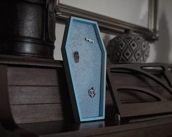 LARGE Light Blue Velvet Coffin Pin Board ©