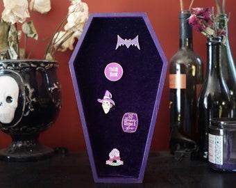 LARGE Purple Coffin Velvet Pin Board ©