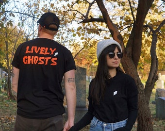 Lively Ghosts Unisex Logo Tee