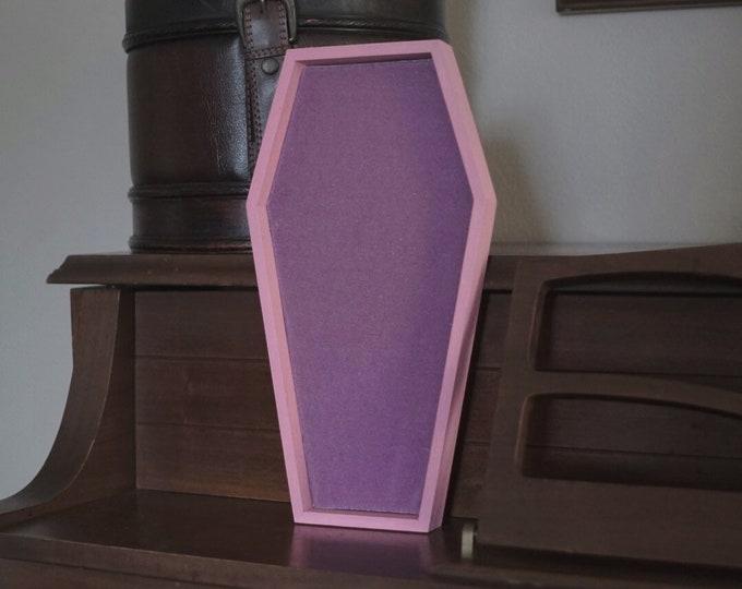 LARGE Pink & Lavender Velvet Coffin Pin Board ©