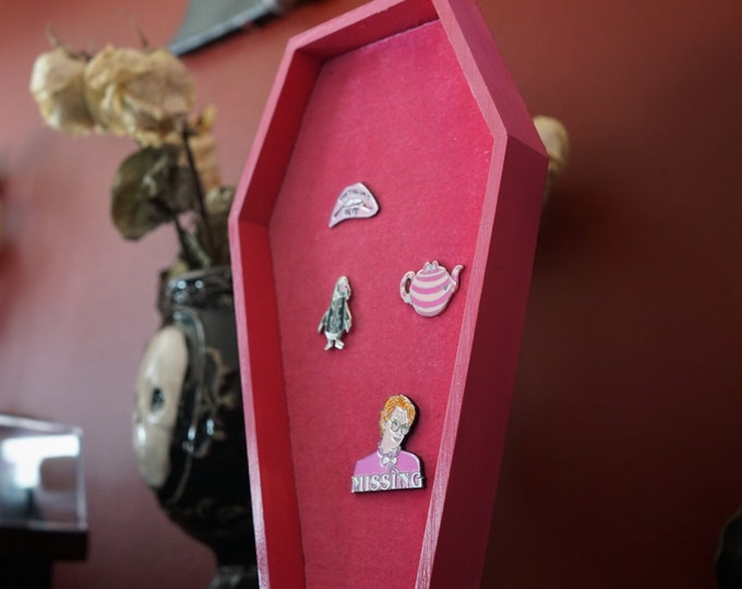 LARGE Pink Coffin Pin Board with Pink Velvet