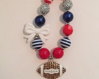 Houston Texans chunky football necklace