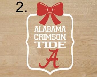 Alabama Crimson Tide framed decal
