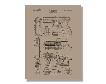 Walther PPK Military and Weapons Patent Poster Blueprint | Etsy on