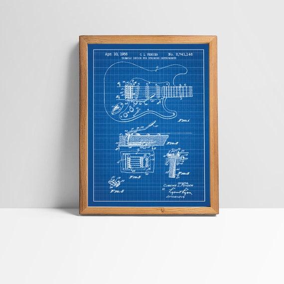 Fender Stratocaster Guitar - Music & Audio Patent - screen print decoration on les paul schematics, fender mustang schematics, stratocaster tone wiring schematics, fender stratocaster models, fender telecaster, fender amp schematics, fender deluxe schematic, fender jazzmaster schematics, ernie ball strat schematics, fender jaguar schematics, strat super switch wiring schematics,