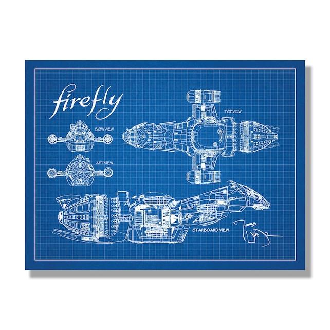 Firefly serenity blueprint science fiction fantasy etsy image 0 malvernweather Images