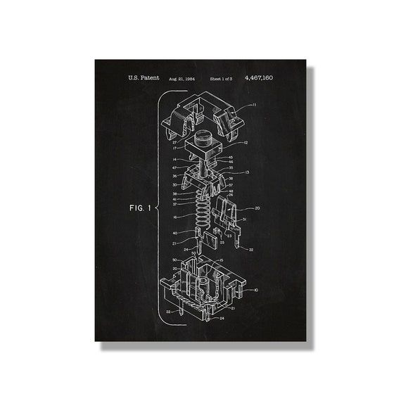 Keyboard keycap patent poster screen print decoration etsy image 0 malvernweather Image collections