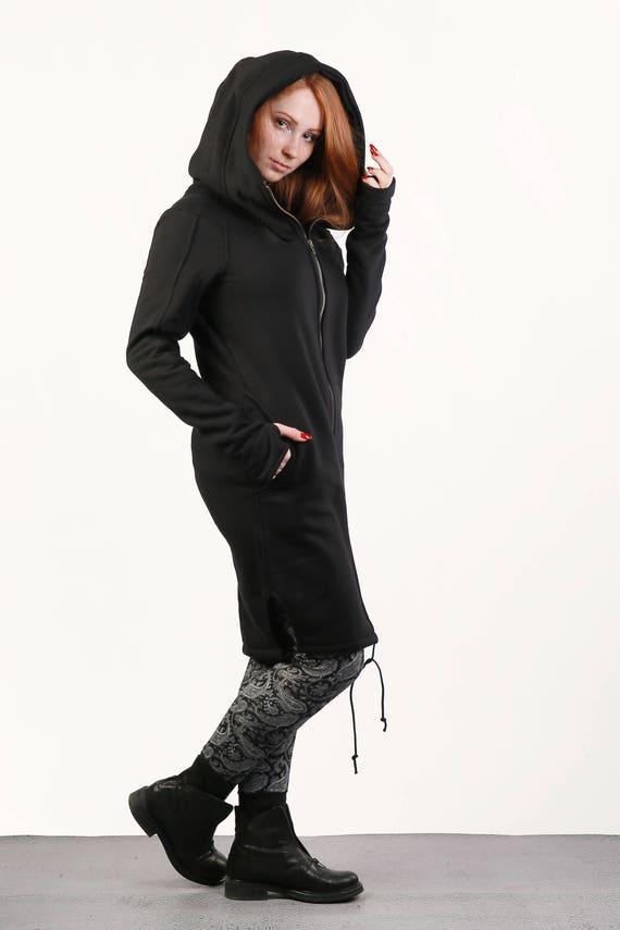 her Jacket for Size Hoodie Clothing Plus Black Black Gothic Clothing Jacket Hoodie Black for gift Plus Sweatshirt Hoodie Size Women awfxH4q