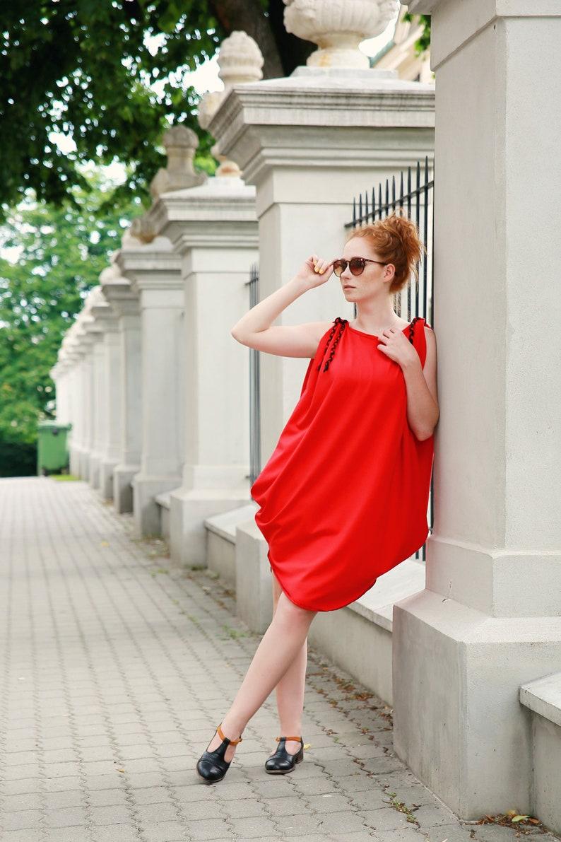 60c347ea72 Luźnaasymetryczna sukienka oversize seksowna sukienka