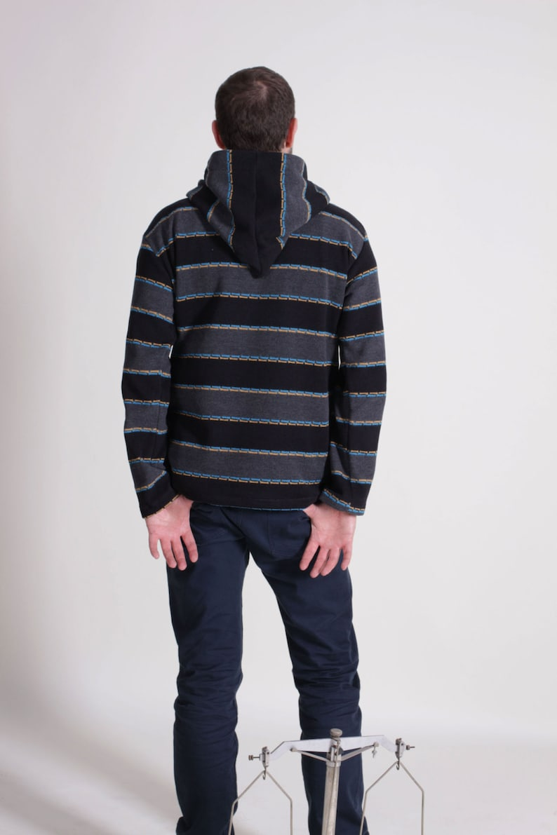Gift for Men Cotton Sweater Outift/'s for Men Unusual Handmade Warm sweater plus size Sweater with hood Men/'s Clothing Hoodies