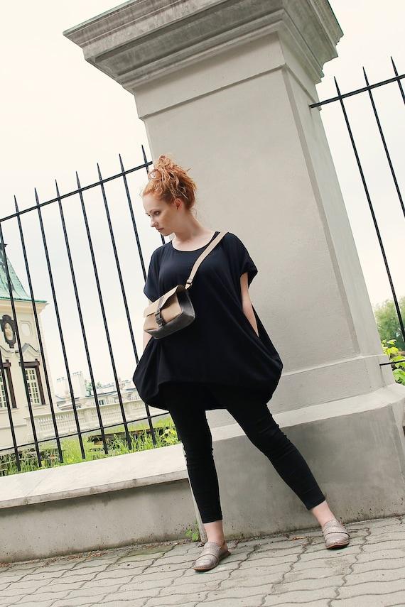 Black Tunic Trendy Plus Size Clothing Black Cotton Dress Etsy