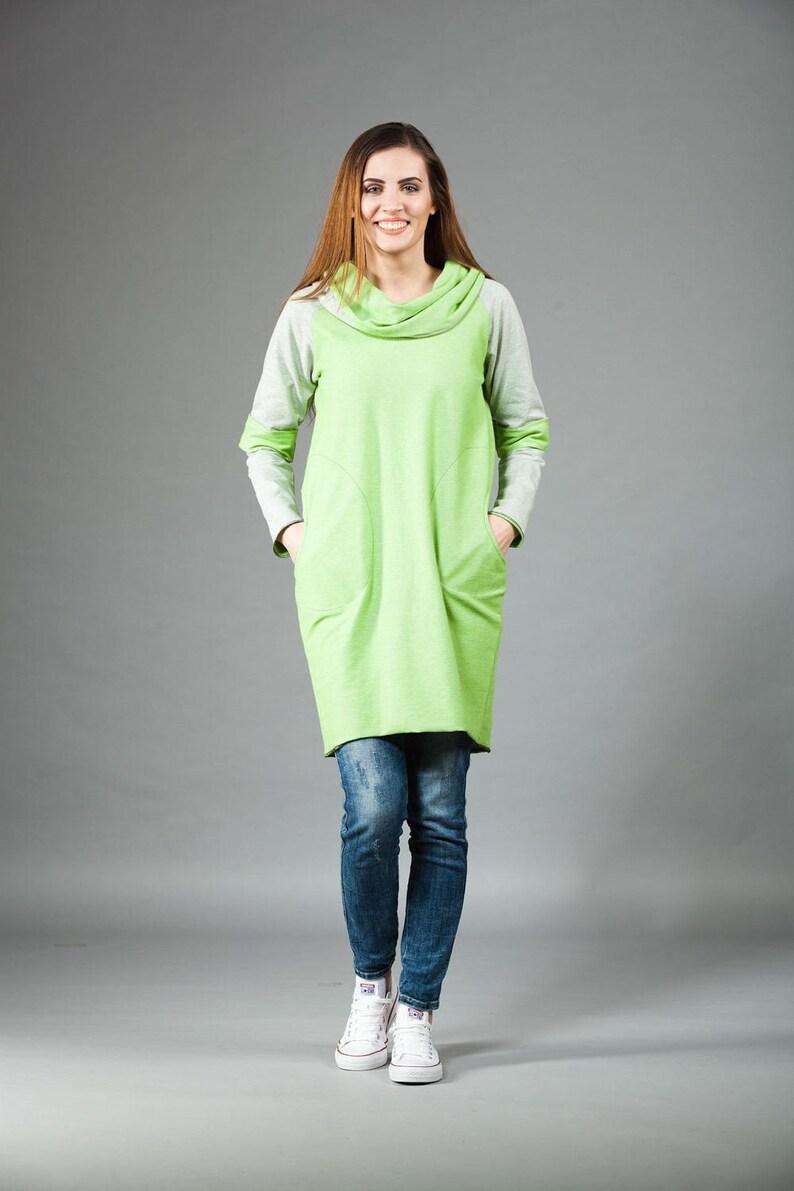 Maxi spring dressWomen/'s HoodieLemon Hoodie Dress Loose DressLoose Casual Tunic Top Plus size