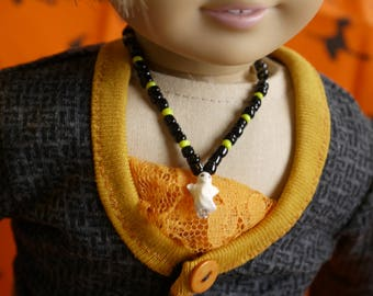 Halloween is just around the corner and these spooky doll necklaces are just the thing for your 18 inch doll to wear!