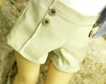 Shorncliffe Sands, mix 'n' match pintucked shorts for 18 to 20 inch dolls