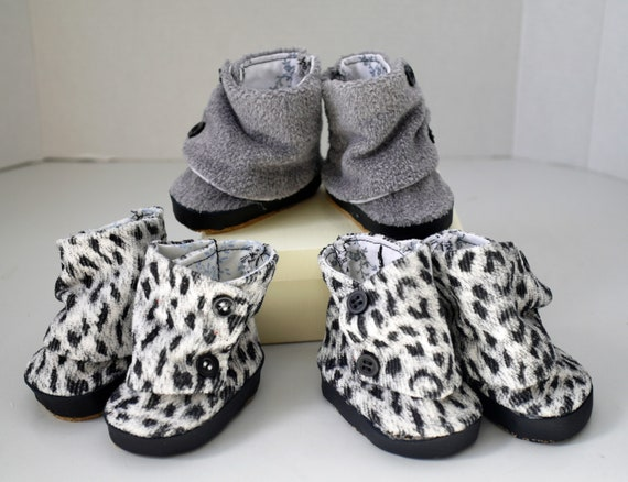"""18/"""" Doll Shoes Gray Knit Slouch Boots fits 18/"""" Doll Grey Knit Boots"""