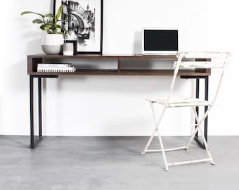 "Large Console Table, Narrow Hall Table, Solid Ash, Minimalist Mid Century Modern ""Darwen"""