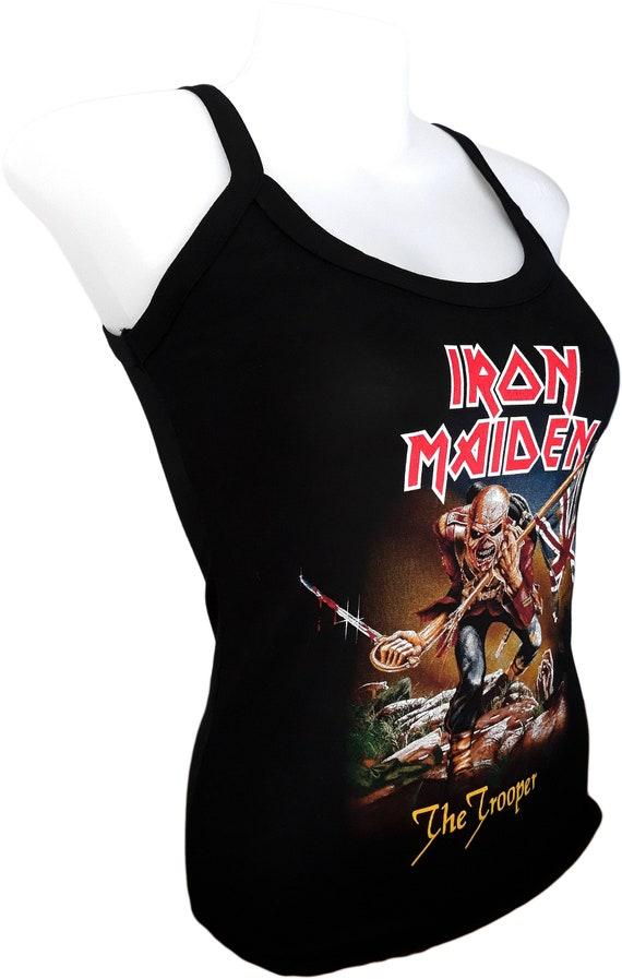 IRON MAIDEN tank top Women/'s Rayon Spandex shirt Singlet Music T-shirt Fashion