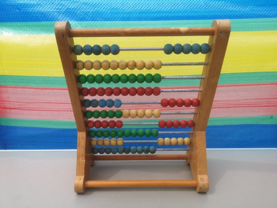 ABACUS TRADITIONAL WOODEN COLOURFUL COUNTING FRAME boxed ready to wrap
